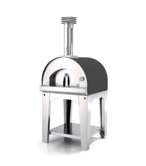 Fontana Margherita Wood Pizza Oven with Trolley - ANTHRACITE