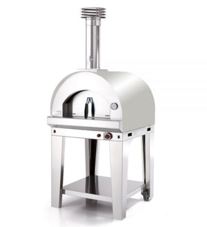 Fontana Margherita Gas Pizza Oven Complete With Trolley - STAINLESS STEEL
