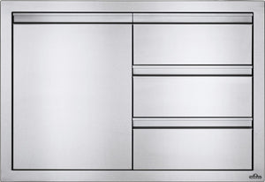 "Napoleon BBQ Kitchen Built in 36"" X 24"" Single Door & Triple Drawer Combo"