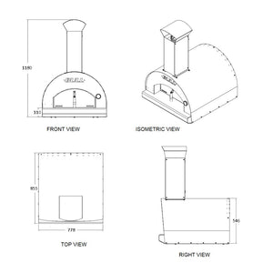 Bull Wood Fired Built in Italian Pizza Oven Size Options