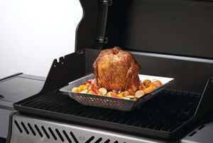 Napoleon Stainless Steel Wok and Beer Can Chicken Roaster. 56024.