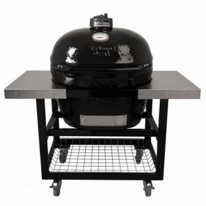 Primo XL400 Oval Ceramic BBQ Cart Model With Stainless Steel Side Shelves