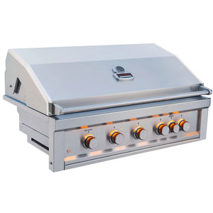 Sunstone® 5 Burner Built In RUBY series Gas Grill Head with rear Infrared Burner