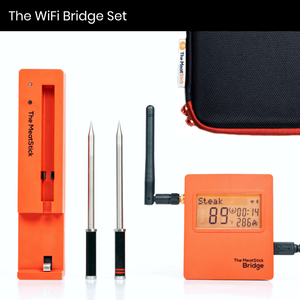 The Meatstick Wireless Thermometer Wifi Bridge Kit with 2 Probes Unlimited Range