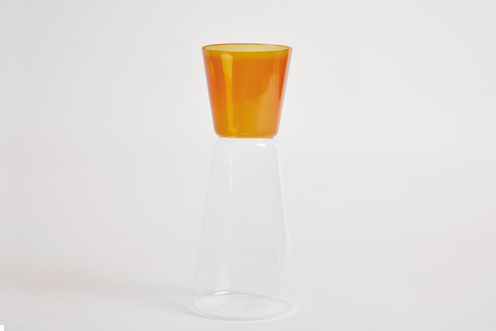 High Rise Carafe Amber & Clear