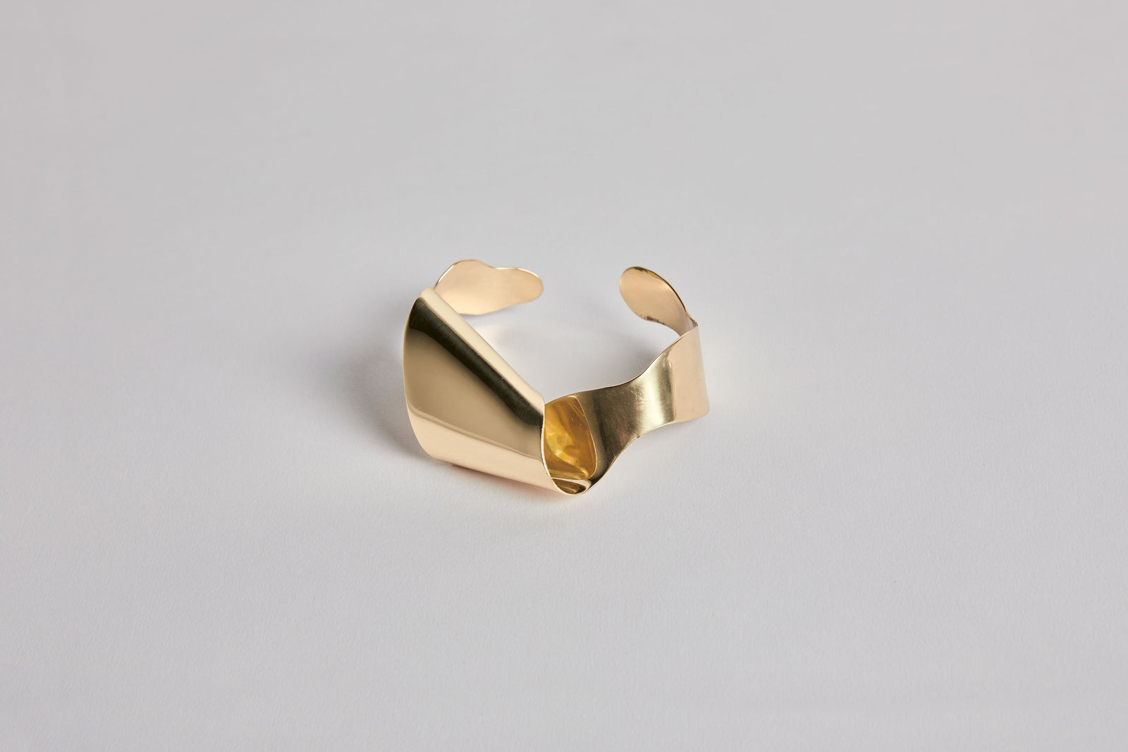 Fold & Flow Small Cuff Brass
