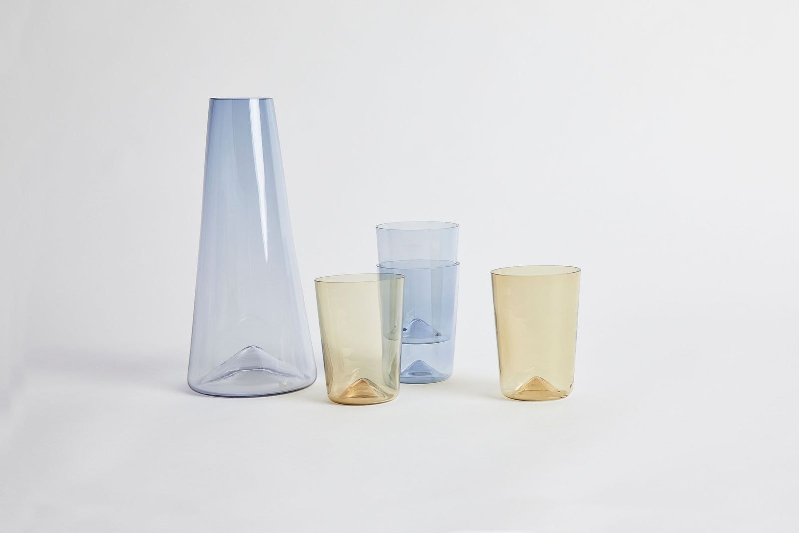 Peak Carafe & Glassware Set Blue & Sargasso