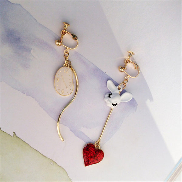 Alice in Wonderland Earrings - WaterRabbit.Co