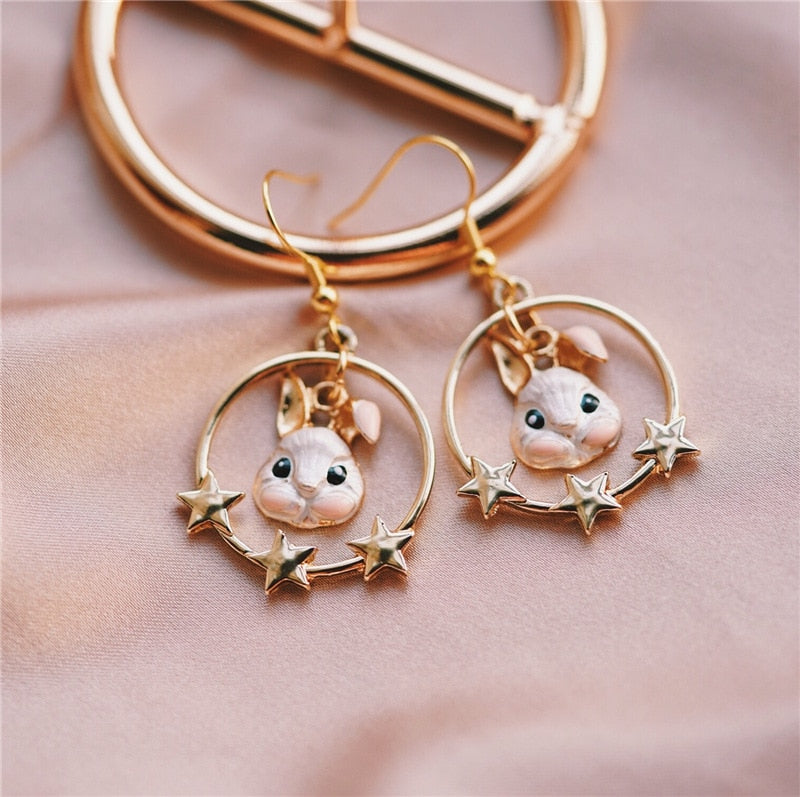 Star Drop Earrings - WaterRabbit.Co