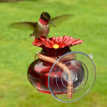 Load image into Gallery viewer, Window Watch Hummingbird Feeder