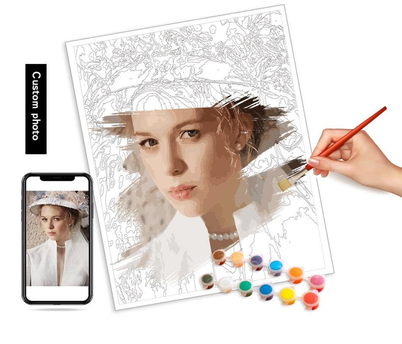Personalised Photo Custom Diy Paint By Numbers Kits Uk PBN90268 —  Artnumbers.co.uk