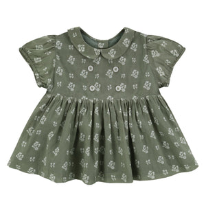 little cotton clothes   Isabella Blouse Sedum Green Floral