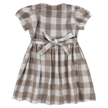 画像をギャラリービューアに読み込む, little cotton clothes   Audrey Dress-Textured Gingham In Cinder