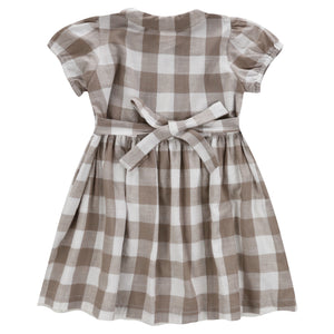 little cotton clothes   Audrey Dress-Textured Gingham In Cinder