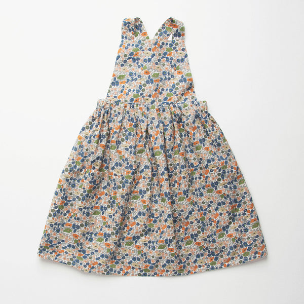 Nellie Quats  Conkers Pinafore-Poppy&Daisy Liberty Print