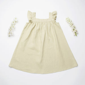 Nellie Quats  Leap Frog Dress-Soft Sage Linen