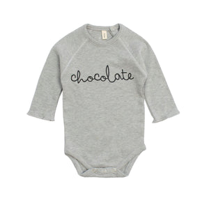 organic zoo Grey Bodysuit Chocolate