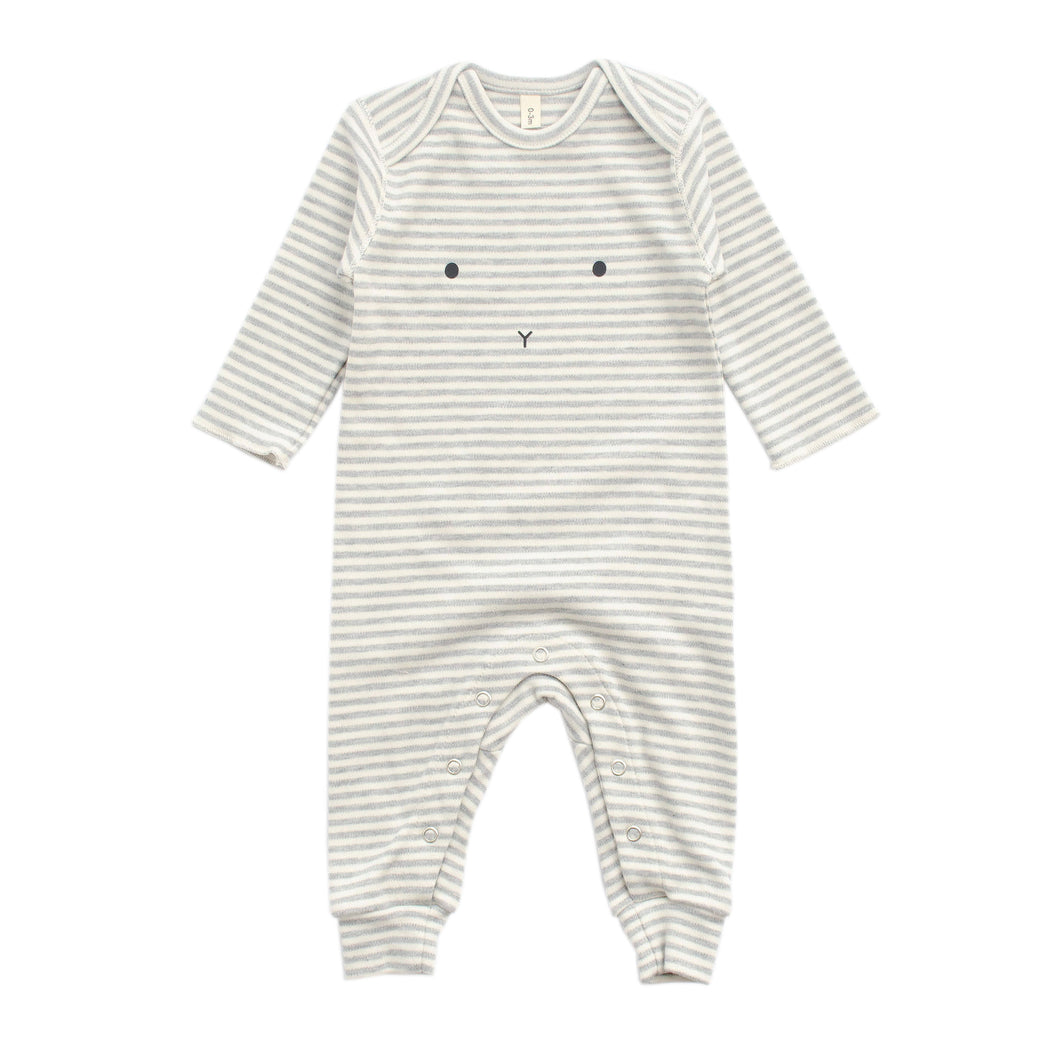 organic zoo  Stripy Playsuit Bunny