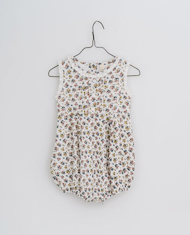 little cotton clothes  Afia romper-muslin aster floral