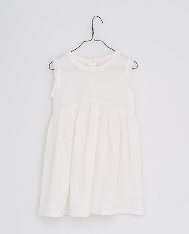little cotton clothes  Celeste dress-muslin off white