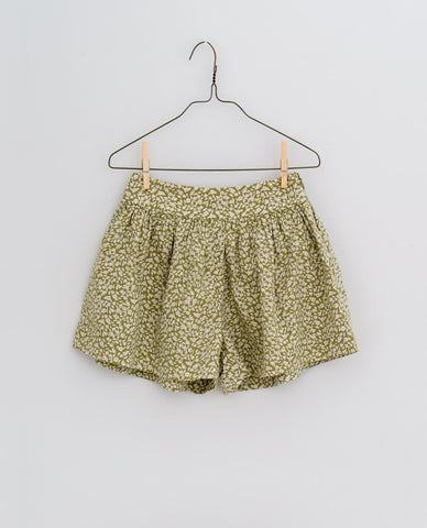 little cotton clothes   Joanie shorts-blossom floral samphire