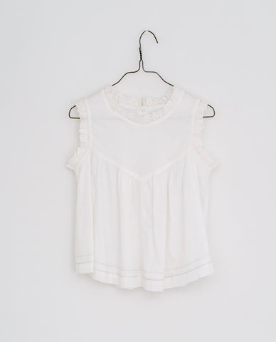 little cotton clothes   Rosa sun top-white