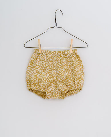 little cotton clothes   Poppy Bloomers-blossom floral mustard