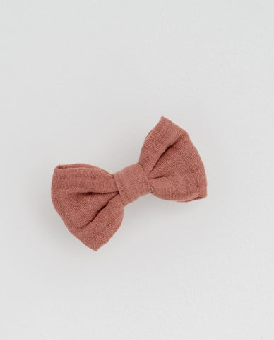 little cotton clothes   Small hair bow-old rose muslin