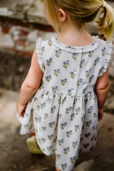 little cotton clothes  Celeste dress-poppy floral