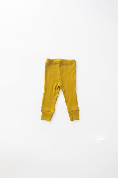 Fin&Vince  ribbed pants-chartreuse