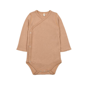 organic zoo Caramel Wrap Over Bodysuit