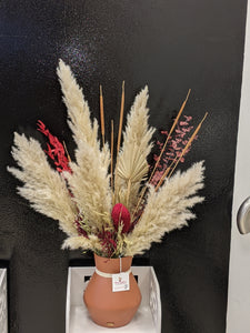 """Golden flare"" with pampas grass - Floral Symphony.IE"