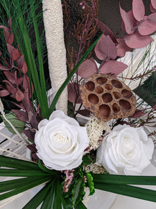"""Ladies day"" with white roses - Floral Symphony.IE"