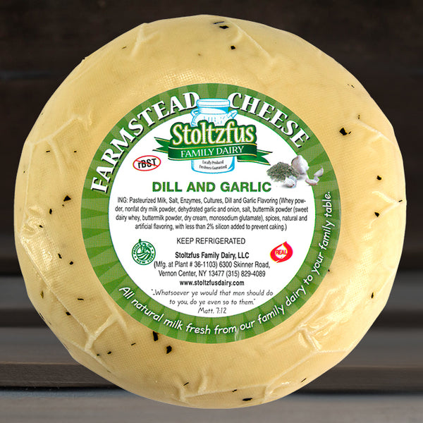 Dill & Garlic Cheese Wheel