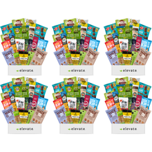 Load image into Gallery viewer, Elevate- 6 Month Vegan, Gluten Free Subscription Snack Box ($27.99 Per Month -12 Different Snacks Every Month)