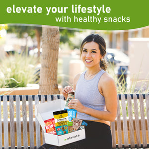 Elevate- 6 Month Vegan, Gluten Free Subscription Snack Box ($27.99 Per Month -12 Different Snacks Every Month)