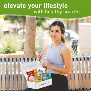 Elevate - DELUXE Vegan Gluten Free Snack Box [ 20 count ] -BESTSELLER on Amazon and Etsy!