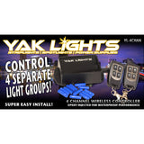 Yak Lights Four-Channel Wireless Transmitter with Two Key Fobs and Quick Crimps