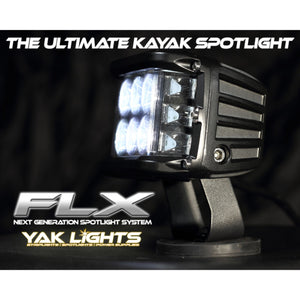 Yak Lights FLX Ultra Bright Spotlight with Navigation Marker Lights and Mag Mount System