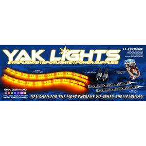 Yak Lights Flex Lights Series Extreme Kayak Lighting Kit with Toggle Switches and Extreme Weather Wiring Kit