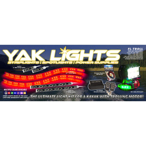 Yak Lights Flex Lights Trolling Kayak Lighting Kit with DR-1280 Spotlight