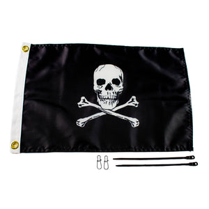 Yakattack Jolly Roger Flag 12x18 Flag Kit for Visicarbon Pro and Visipole II