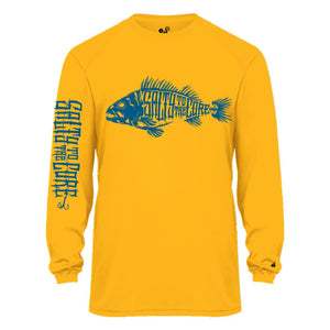 "BHO ""Salty to the Core"" Bone Fish SolarUV Long Sleeve Shirt"
