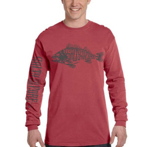 "BHO ""Salty To The Core"" Bone Fish Long Sleeve T-Shirt"