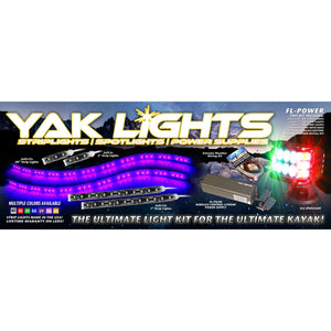 Yak Lights Flex Lights Power Kayak Lighting Kit with Wireless 6Ah Lithium Battery