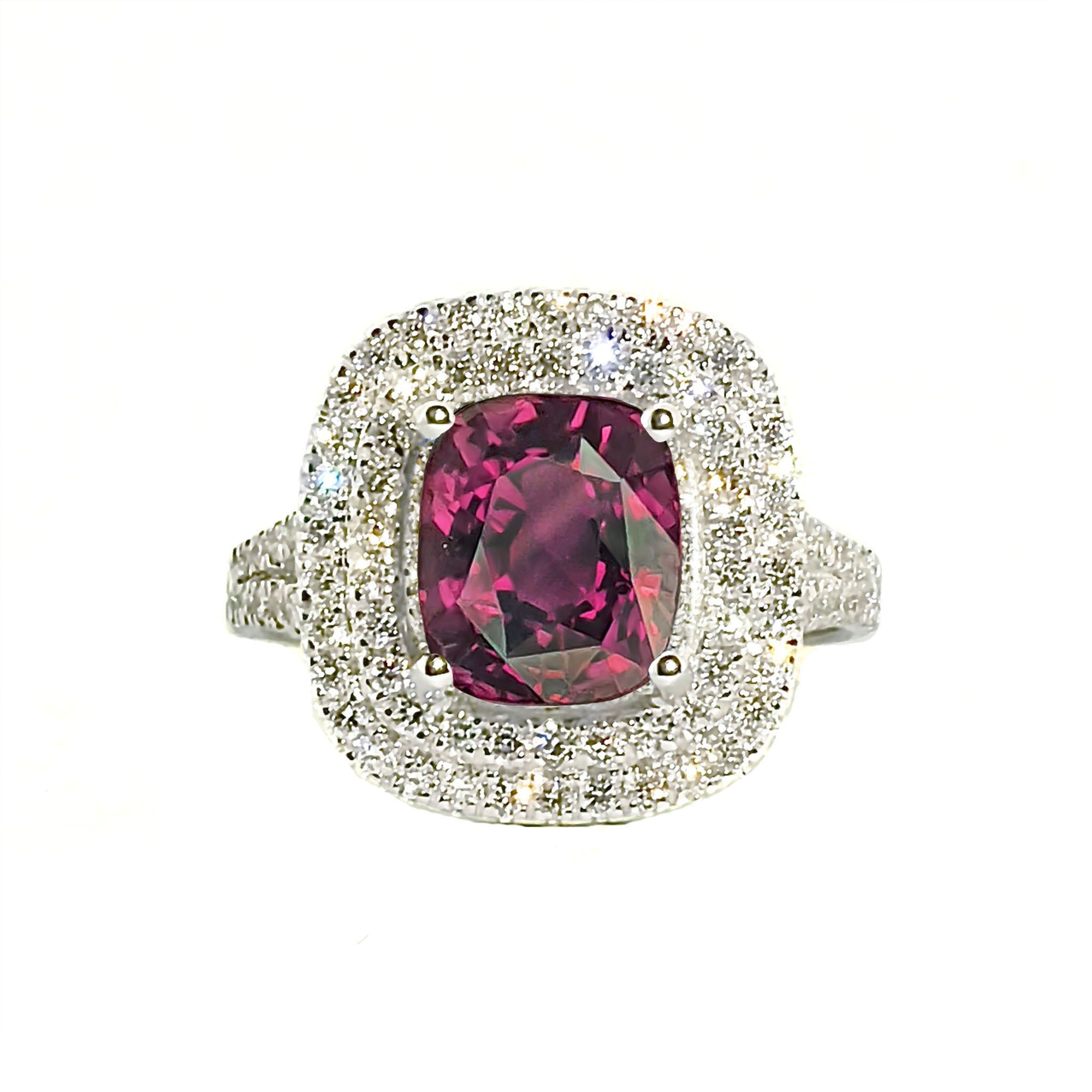Anthio Double Halo Ring - Pink Long Cushion 2019-69