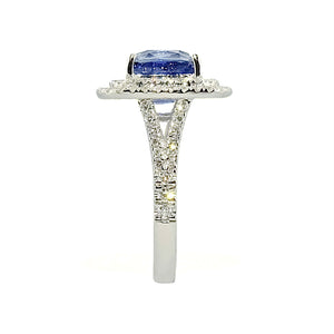 Anthio Double Halo Ring - Tanzanite Cushion 2019-69
