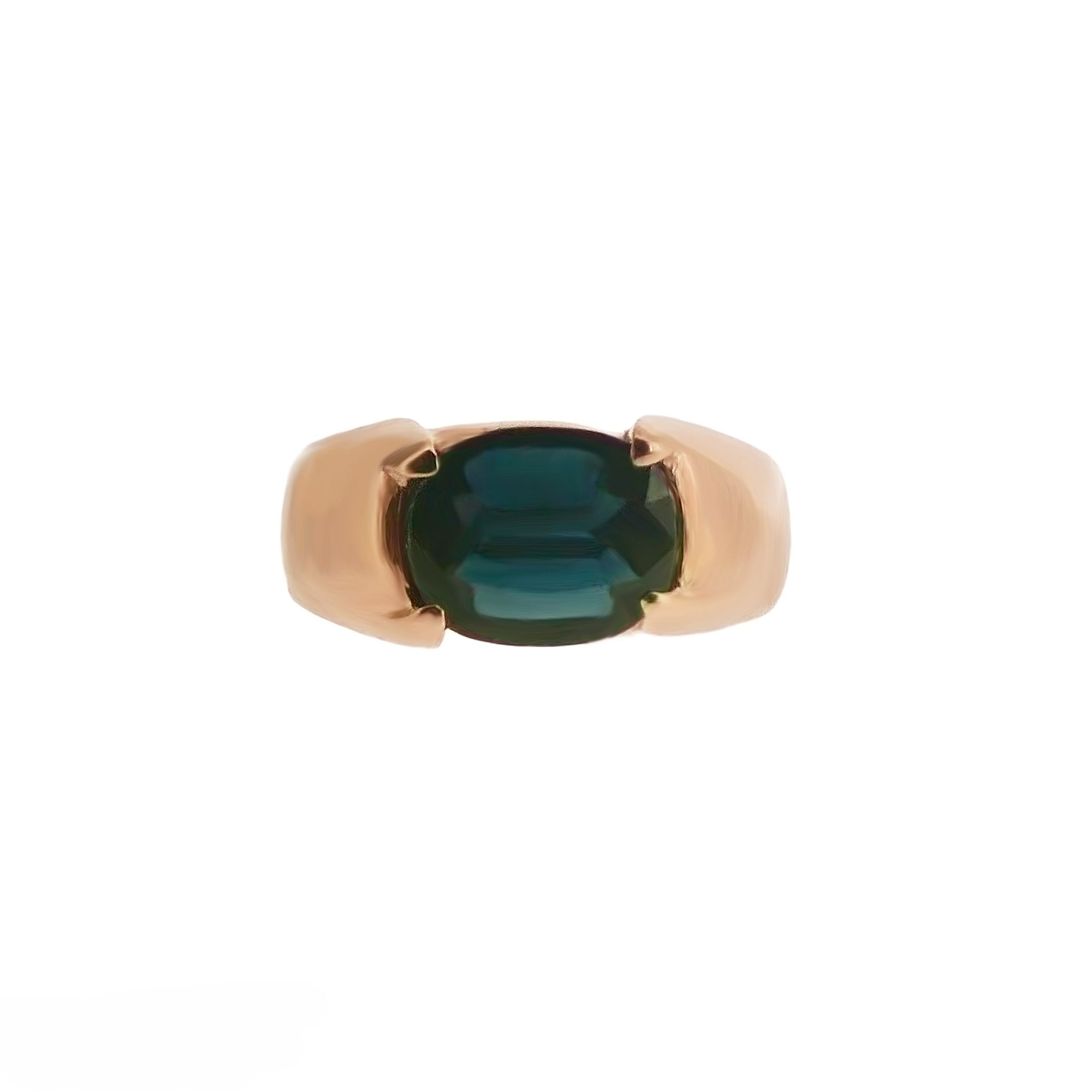 Chryso Men Gemstone Ring - Dark Blue Oval 2018-83