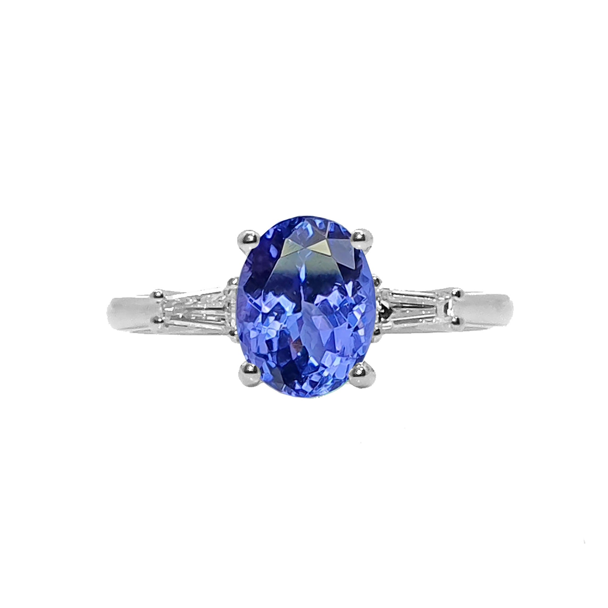 Ciarney Three Stone Ring - Tanzanite Oval 2020-189