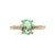 Ciarney Three Stone Ring - Electric Blue Oval 2020-189